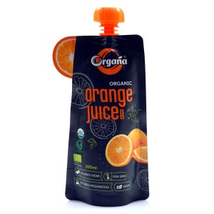 Organa Organic Orange  Juice 200 ml (Pack Of 8)