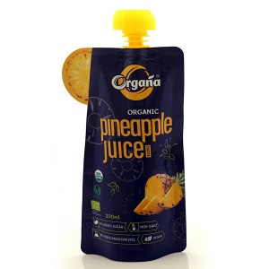 Organa Organic Pineapple Juice 200 ml (Pack Of 8)