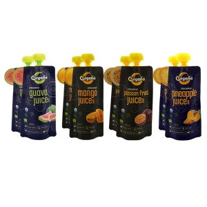 Organa Organic Tropical Fruit Juice Combo Pack (Pack of 8) Pouch