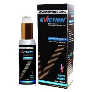 Eviction Natural Hair Inhibitor- Permanent Hair Remover Cream For Men & Women 100gm