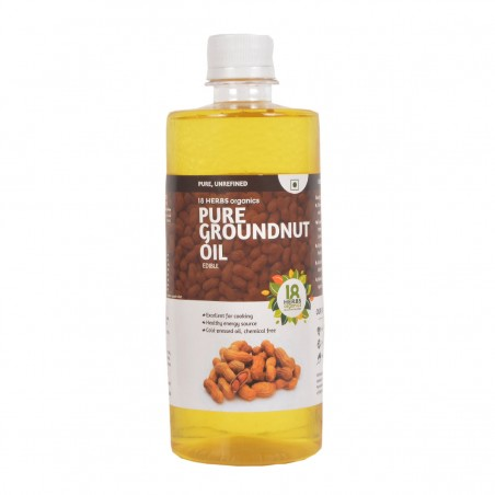 18 Herbs Organics Pure Ground Nut Oil 500ml