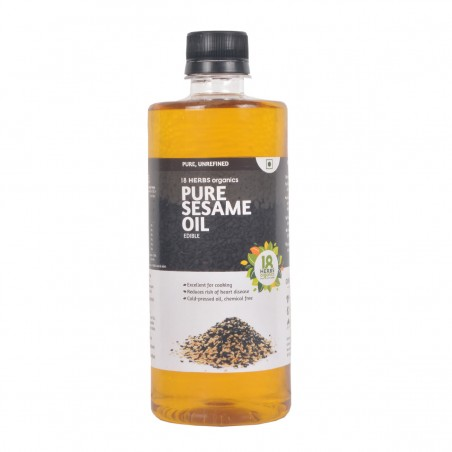18 Herbs Organics Pure Sesame Oil 500ml