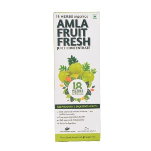 18 Herbs Organics Amla Fruit Fresh Juice 500ml