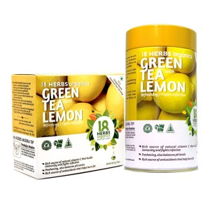 18 Herbs Organics Green Tea With Lemon