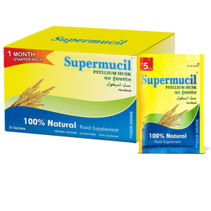 SUPERMUCIL Monthly Pack 31 Sachets of Psyllium Husk 102 gm Pack Of 3