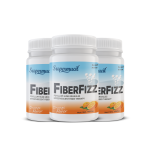 SUPERMUCIL FIBERFIZZ: Psyllium Effervescent: 300 Gms (Combo Pack) (3X100 Gms) Orange Flavor