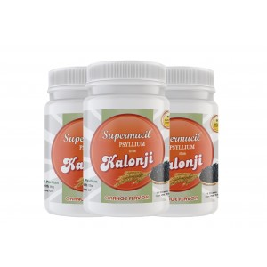 SUPERMUCIL Psyllium with Kalonji Orange Flavor (100gm X3)