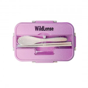 WildLense Eco-Friendly Wheat Fiber Lunchbox pink