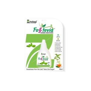Zindagi- Fosstevia - Natural & Herbal Sweetener- Zero Calories- No Side Effects