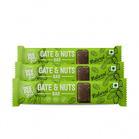 Dev. Pro. Date & Nuts Bar Natural (Pack of 3)