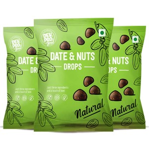 Dev. Pro. Date & Nuts Drops Natural with Fibre coating (Pack of 3)