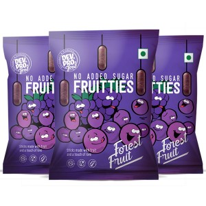 Dev. Pro. No added sugar Frutties  Forest fruit (Pack of 3)