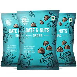 Dev. Pro. Date & Nuts Drops Coconut Cocoa with Fibre Coating (Pack of 3)