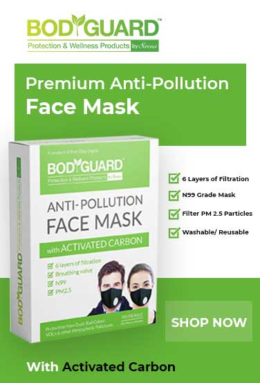 bodygaurd activated carbon anti pollution face mask